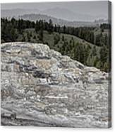 Calcite Bench - Mammoth Hot Springs Canvas Print