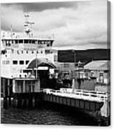 Caledonian Macbrayne Rothesay Ferry At Wemyss Bay Scotland Uk Canvas Print