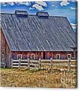 Calgary Barn Hdr Canvas Print