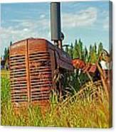 Calgary Tractor Canvas Print