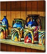 Calico Pottery Canvas Print