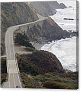 California Highway 1 Or Pacific Coast Canvas Print