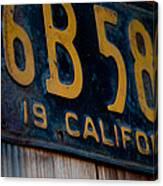 California Plate II Canvas Print