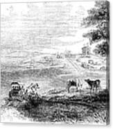 California: Vallejo, 1852 Canvas Print