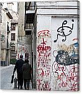 Calle Alvaro De Bazan Graffiti Canvas Print