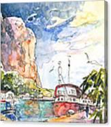 Calpe Harbour 04 Canvas Print