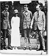 Calvin Coolidge & Family Canvas Print