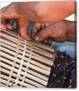 Cambodian Basket Weaver Canvas Print