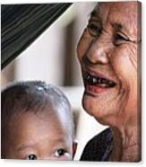 Cambodian Grandmother And Baby #2 Canvas Print