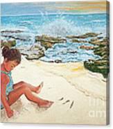 Camila And The Carribean Sea Canvas Print