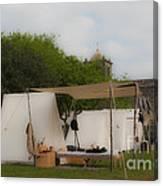 Camp At Goliad Canvas Print