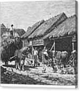 Canada: Farming, 1883 Canvas Print