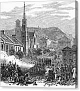 Canada: Gavazzi Riot, 1853 Canvas Print
