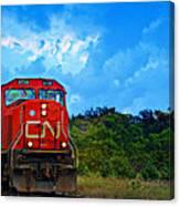 Canadian Northern Railway Train Canvas Print