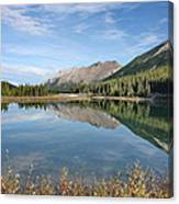 Canadian Rockies Rocky Mountain Lake Canvas Print