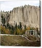 Canadian Rocky Mountains Hoodoos Canvas Print