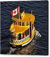 Canadian Water Taxi Canvas Print