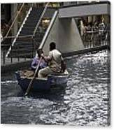 Canal Running Through The Length Of The Shoppes Running Under Th Canvas Print