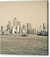 Canary Wharf Cityscape Canvas Print