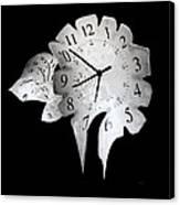 Candle Clock Canvas Print