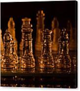Candle Lit Chess Men Canvas Print