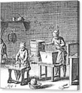 Candlemaking, 18th Century Canvas Print
