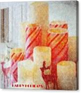Candles For Xmas Canvas Print