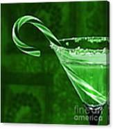 Candy Cane Cocktail  Canvas Print