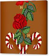 Candy Cane Roses Canvas Print