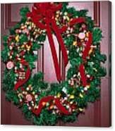 Candy Christmas Wreath Canvas Print