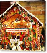 Candy Gingerbread House Canvas Print