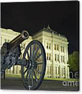 Cannon In Front Of The Texas State Capitol In Austin Canvas Print