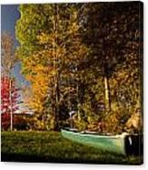 Canoe Canvas Print