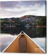 Canoeing In Ontario Provincial Park Canvas Print