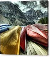 Canoes 2 Canvas Print