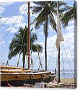 Canoes At Hui O Waa Lahaina Maui Hawaii Canvas Print