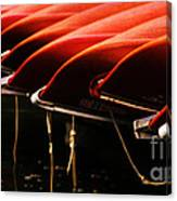 Canoes Of Red Canvas Print