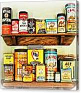 Cans Of Old Canvas Print