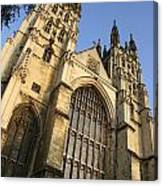 Canterbury Cathedral, Low Angle View Canvas Print