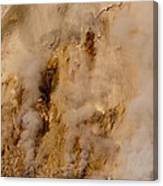 Canyon Steam Vents In Yellowstone National Park Canvas Print