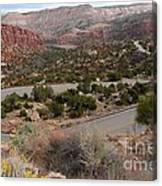 Canyon Switchback Canvas Print