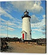 Cape Pogue Lighthouse Marthas Vineyard Canvas Print