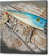 Cap'n Bill Swimmer Vintage Saltwater Fishing Lure Canvas Print