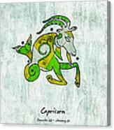 Capricorn Artwork Canvas Print