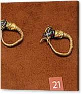 Caprine-head Earrings Canvas Print