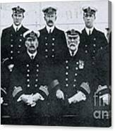 Captain And Officers Of The Titanic Canvas Print