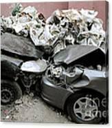 Car Crash In Cairo Canvas Print