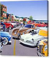 Car Show By The Lake Canvas Print