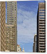 Carbide And Carbon And Wrigley Building - Two Chicago Classics Canvas Print