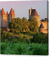 Carcassonne Dawn Canvas Print